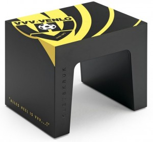 VVV-Venlo kletskruk zwart voetbal fanartikel
